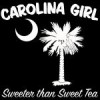 Buy White Carolina Girl Sweeter than Sweet Tea T-Shirts, Apparel, and Gifts